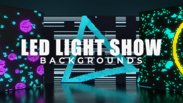 LED Light Show Backgrounds
