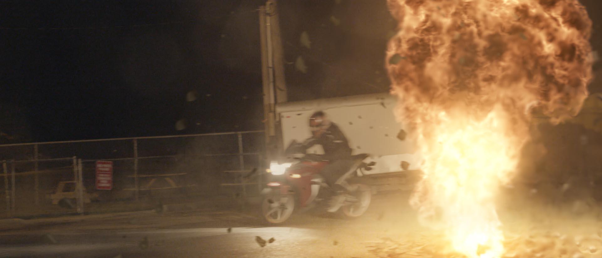 Bike explosion