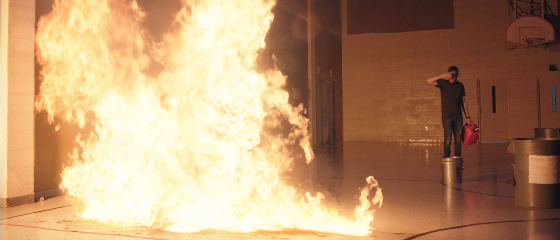 Big gas fires banner compressor