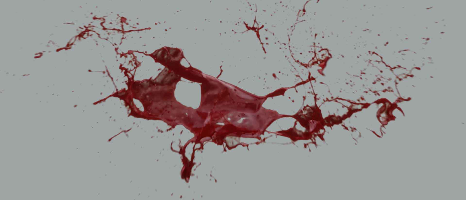 Blood hits and splatter banner image